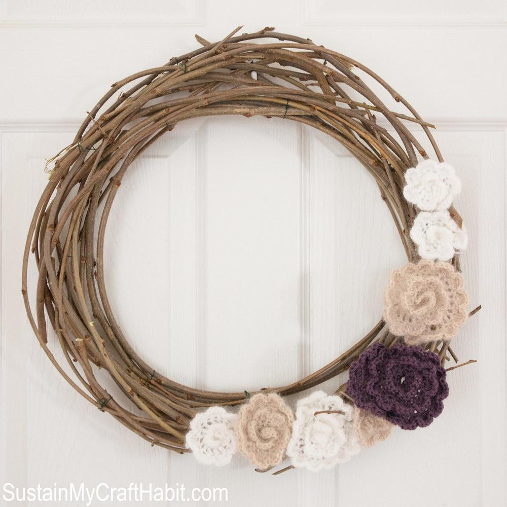 Easy Diy Burlap Floral Fall Wreath Sustain Craft