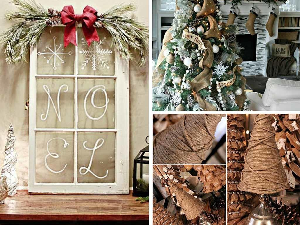 Easy Diy Christmas Decoration Ideas Rustic Style