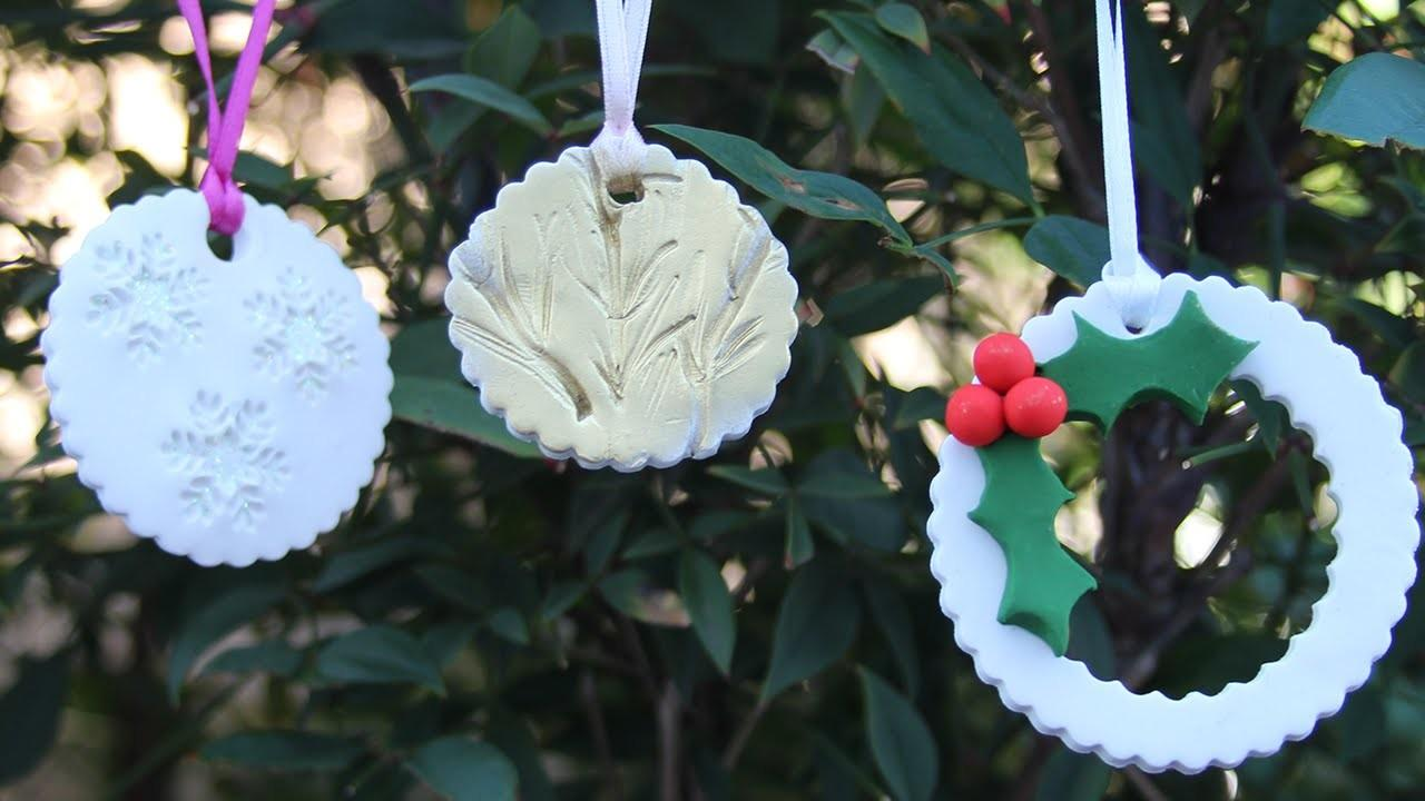 Easy Diy Christmas Ornaments Polymer Clay Tutorial