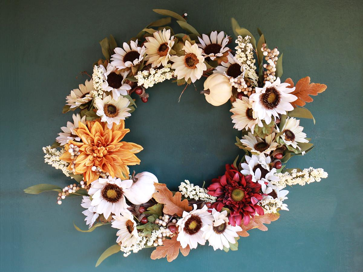 Easy Diy Decorative Fall Wreath Rent Center Front
