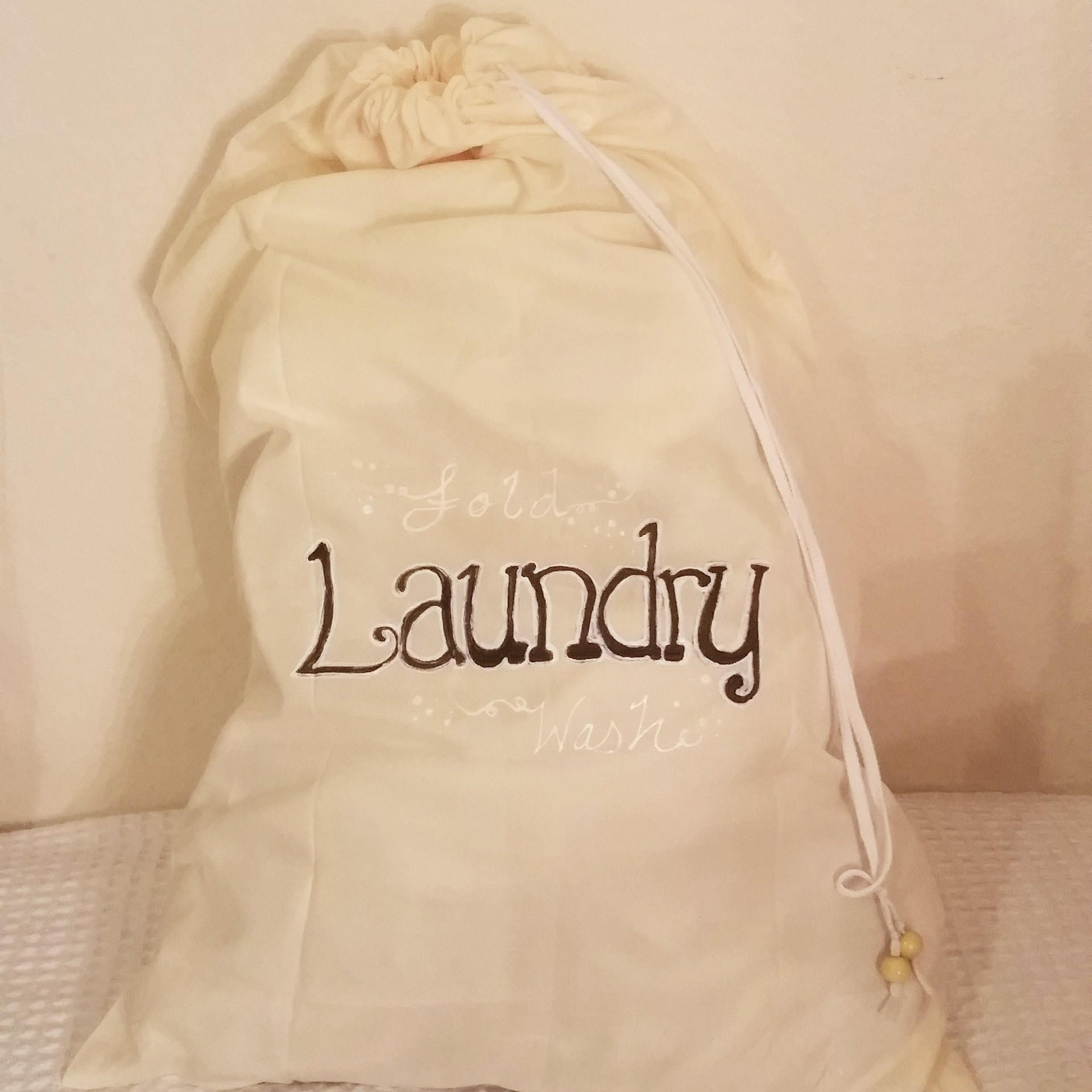 Easy Diy Drawstring Laundry Bag Thetinyhomemaker