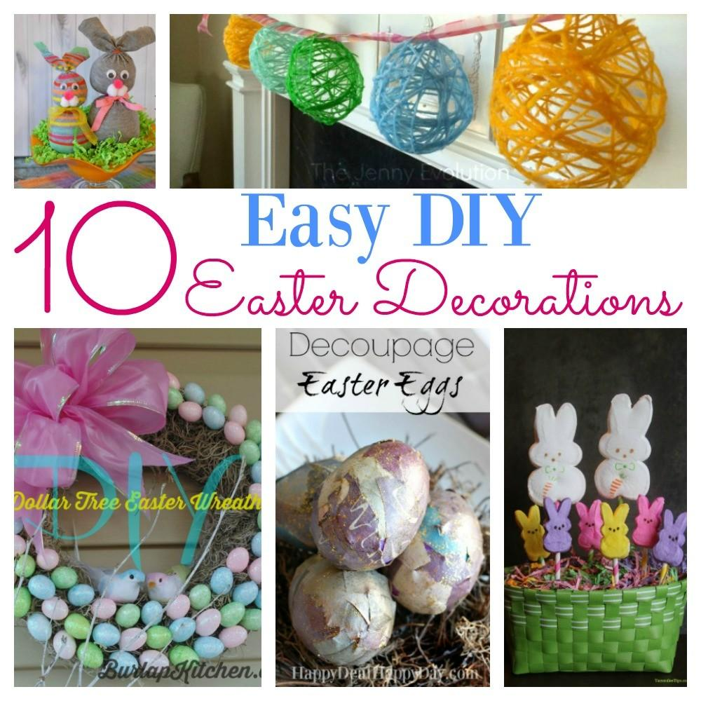 Easy Diy Easter Decorations