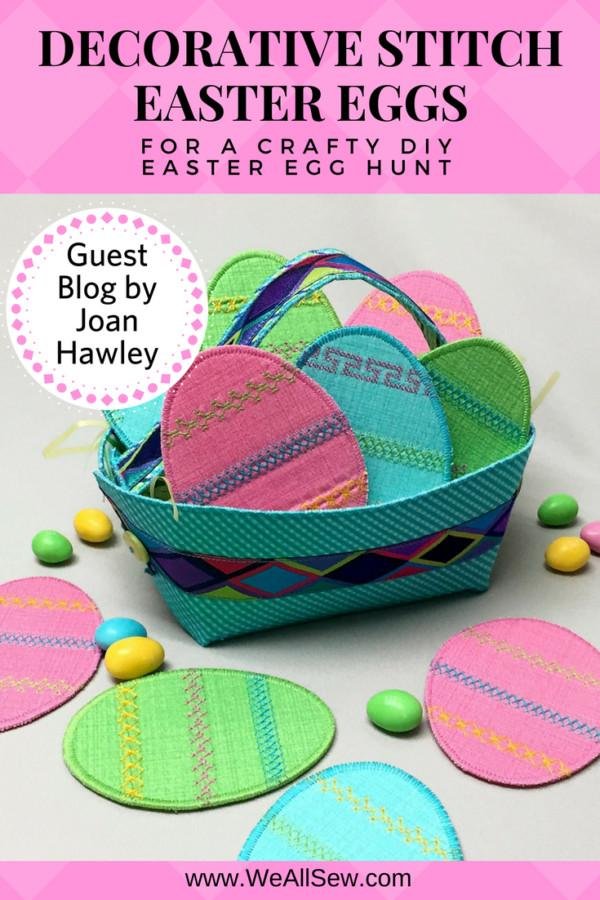 Easy Diy Easter Eggs Decorative Stitches Lazy Girl