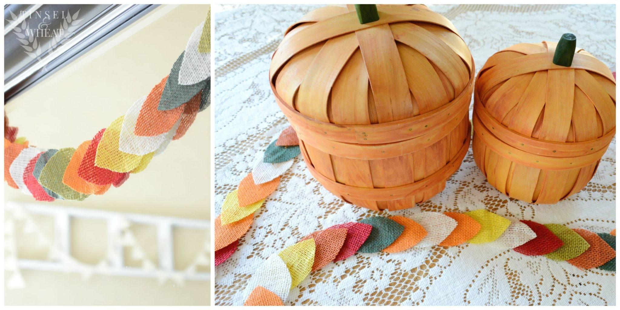 Easy Diy Fall Burlap Garland Pattern Tinsel