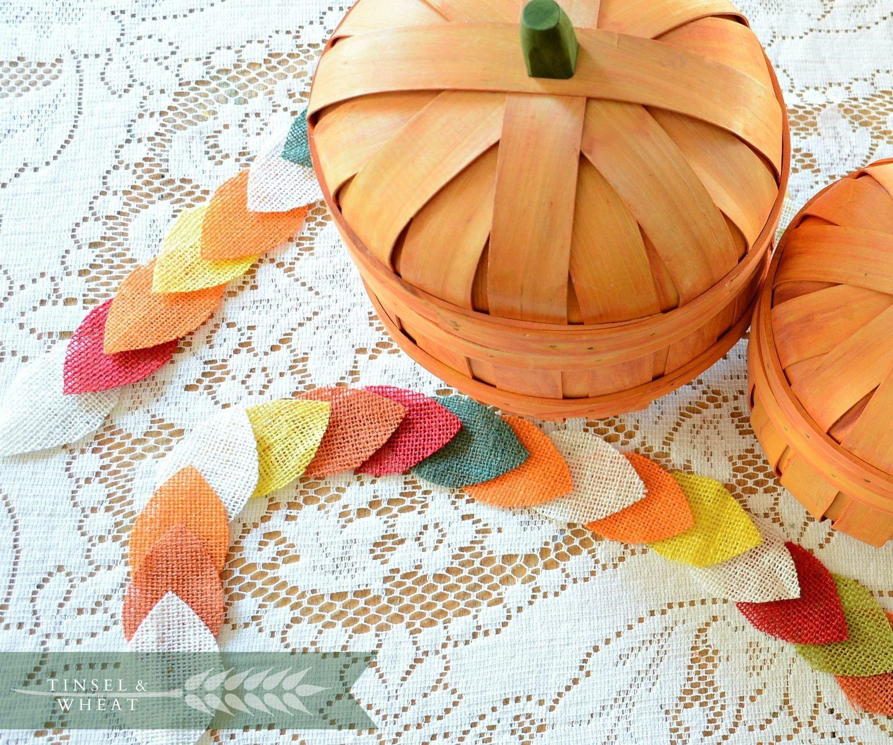 Easy Diy Fall Leaf Garland