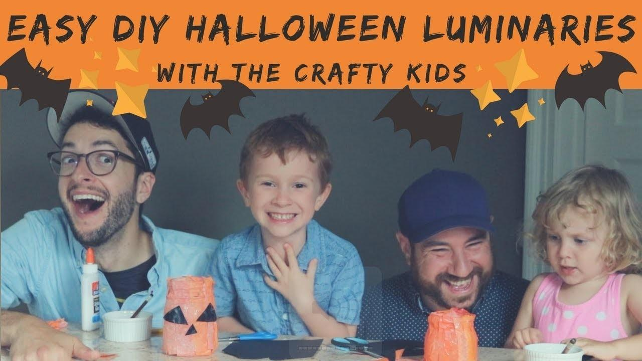 Easy Diy Halloween Luminaries Crafts Projects