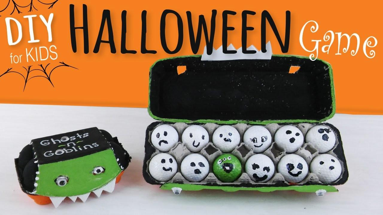 Easy Diy Halloween Party Game Kids Egg Carton