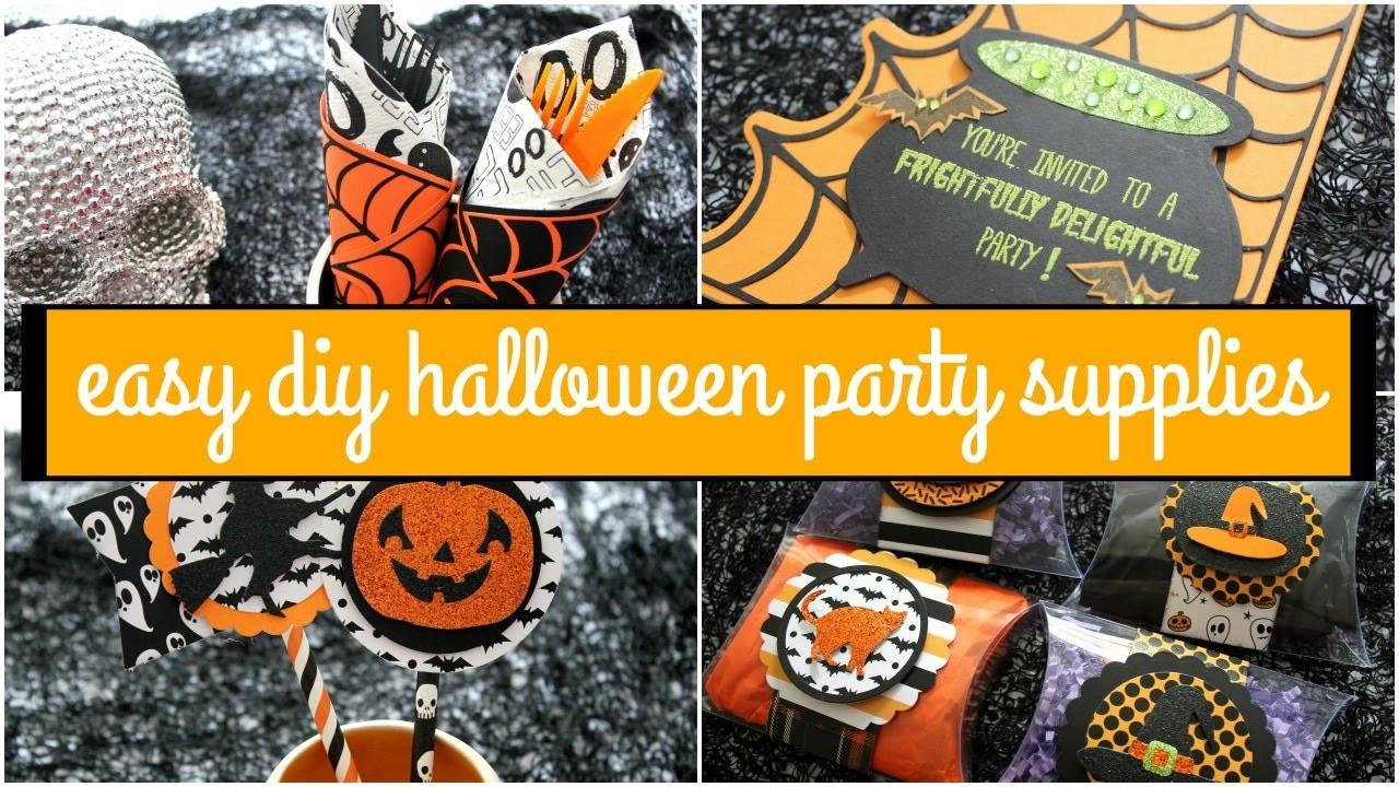 Easy Diy Halloween Party Supplies Diemond Dies Closed