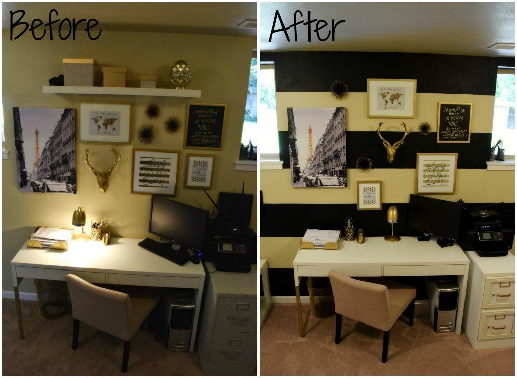 Easy Diy Home Office Makeover Paint Hack Sweet