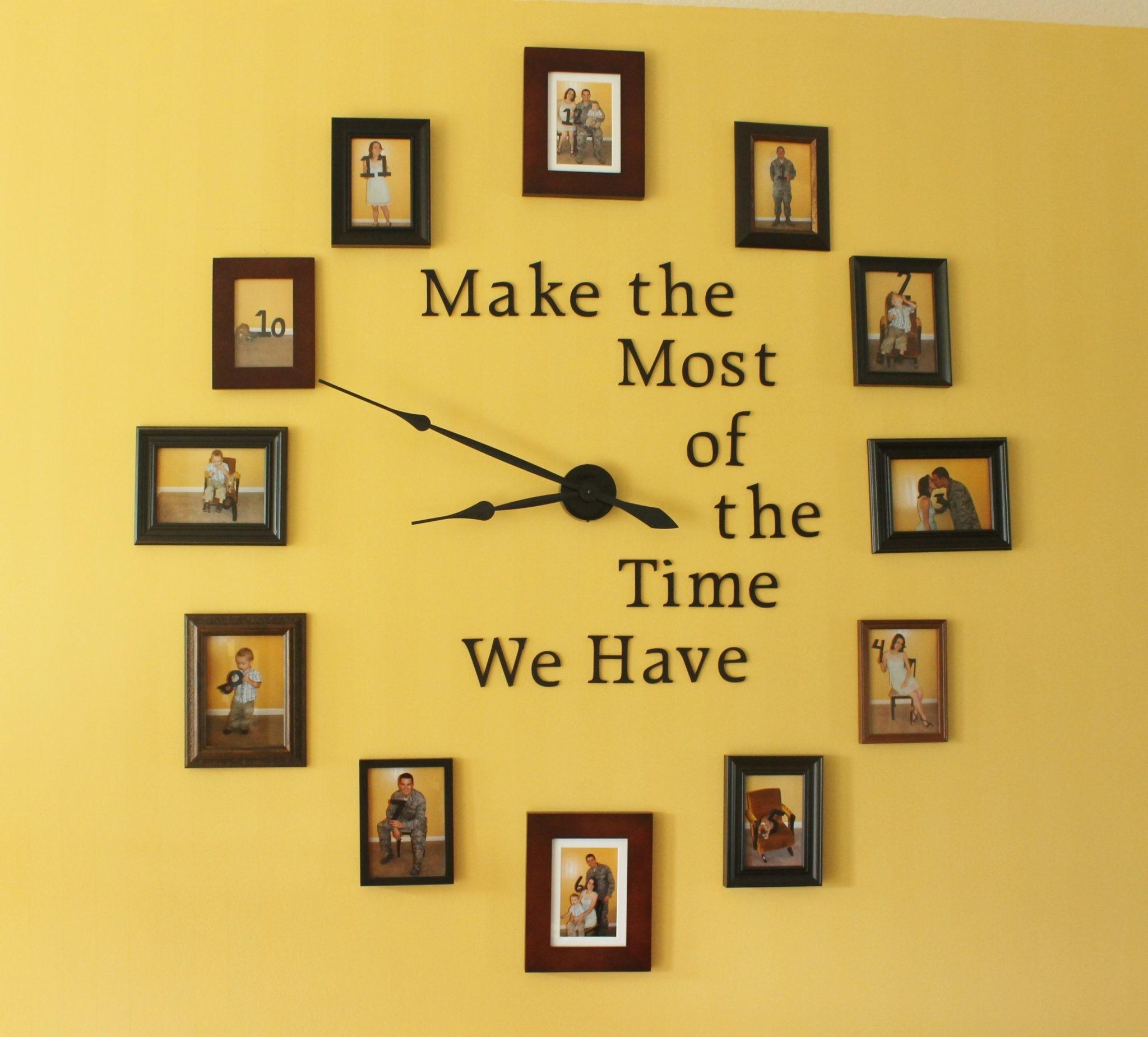 Easy Diy Large Wall Clock Home Decor Project