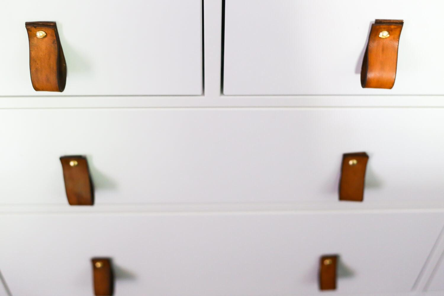 Easy Diy Leather Drawer Pulls Love Renovations