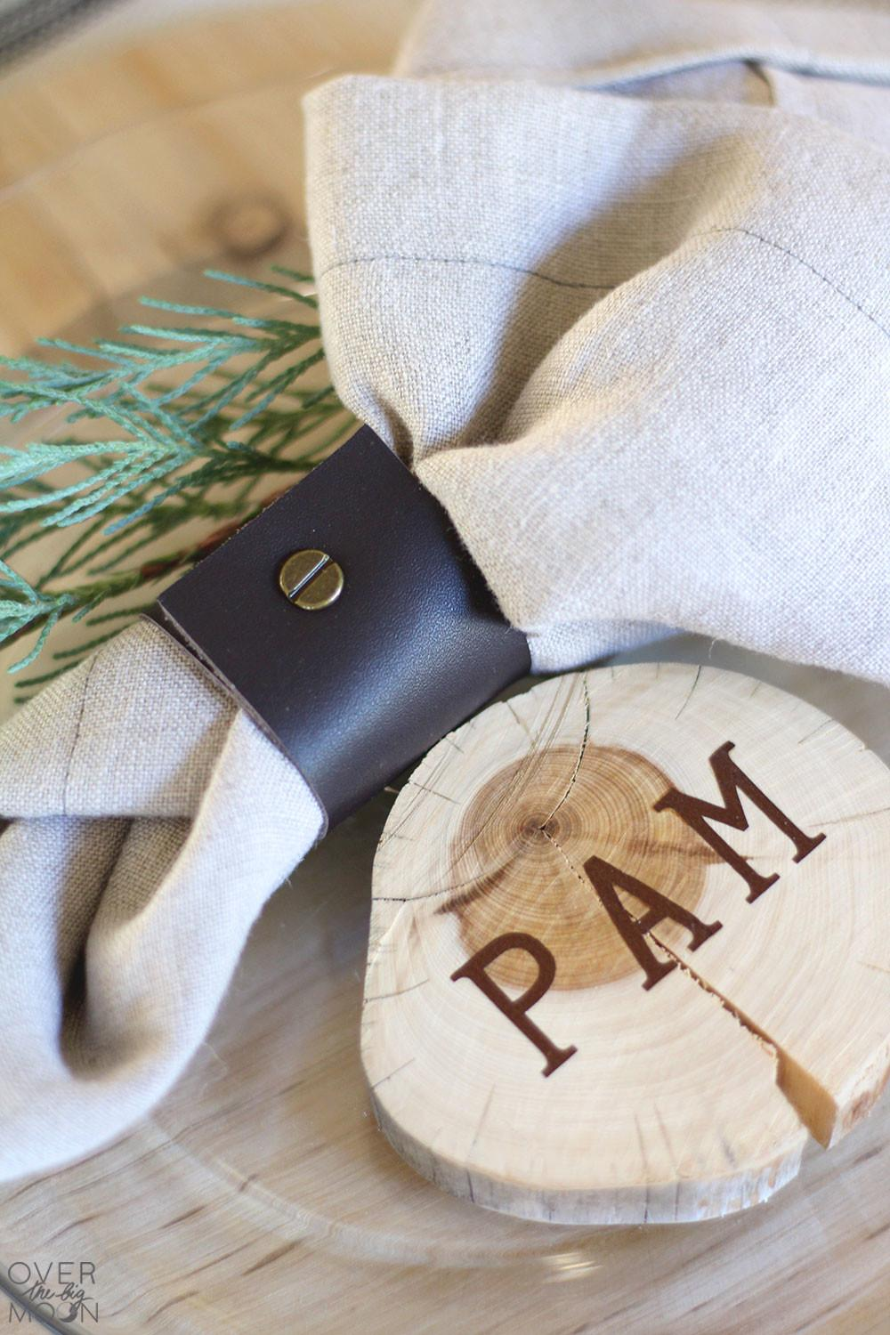 Easy Diy Leather Napkin Ring Over Big Moon
