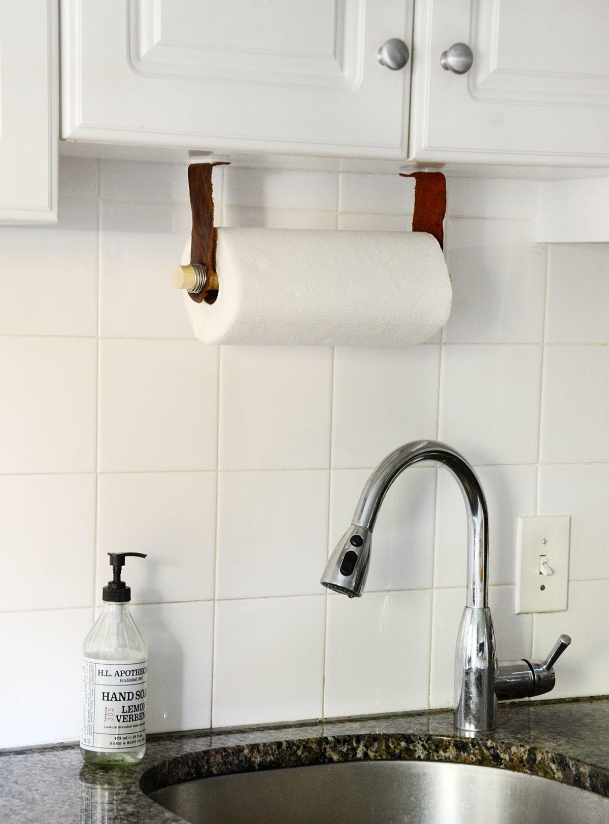 Easy Diy Leather Paper Towel Holder