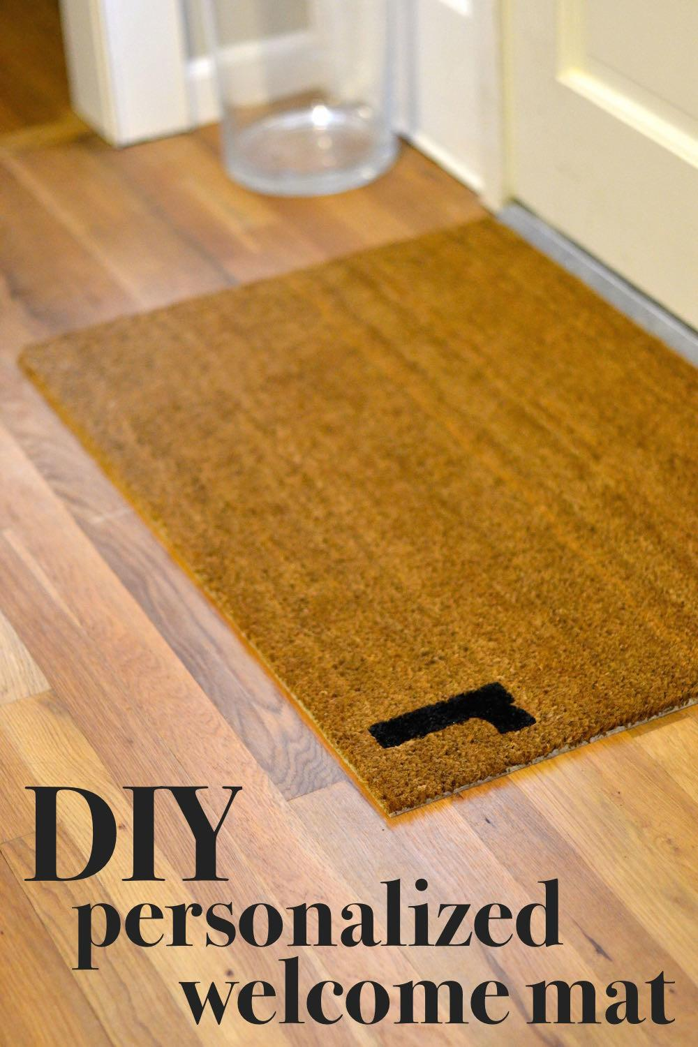 Easy Diy Personalized Door Mat Lovely Lucky Life