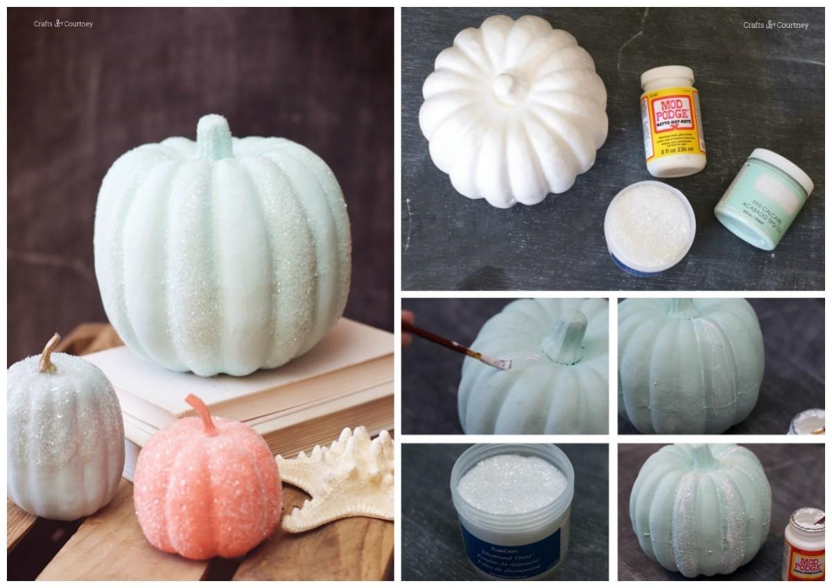Easy Diy Pumpkin Decorating Fall Mod Podge Rocks