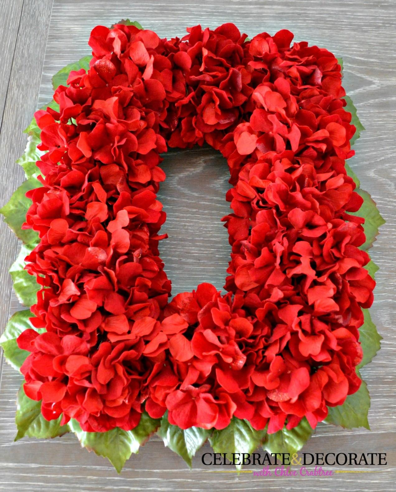 Easy Diy Red Flower Christmas Wreath Celebrate Decorate