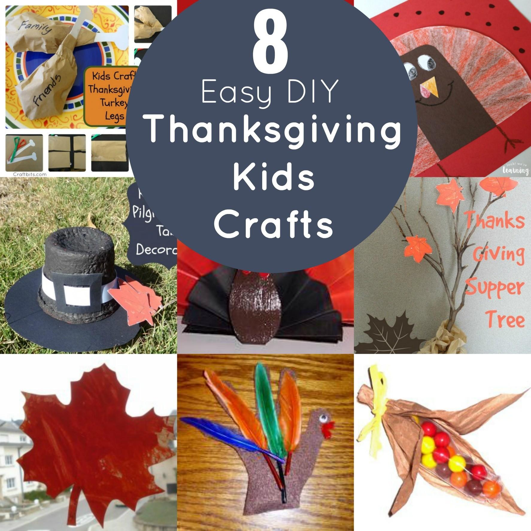Easy Diy Thanksgiving Kids Crafts Mommies