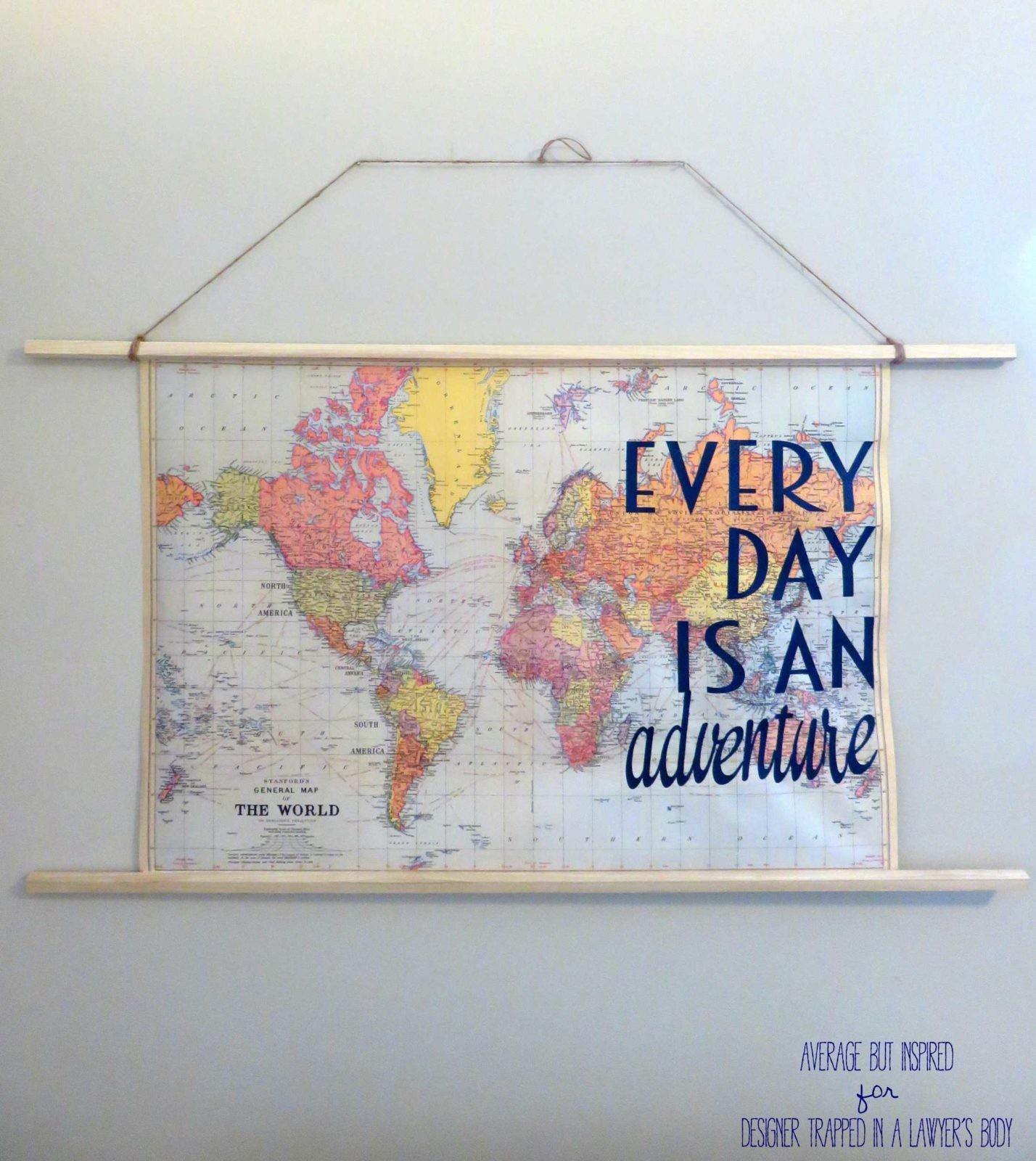 Easy Diy Travel Map Art