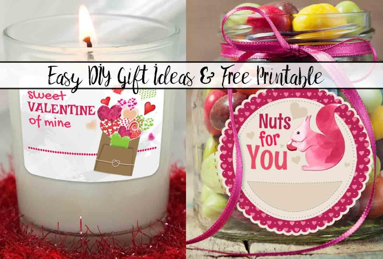 Easy Diy Valentine Day Gift Ideas Printable