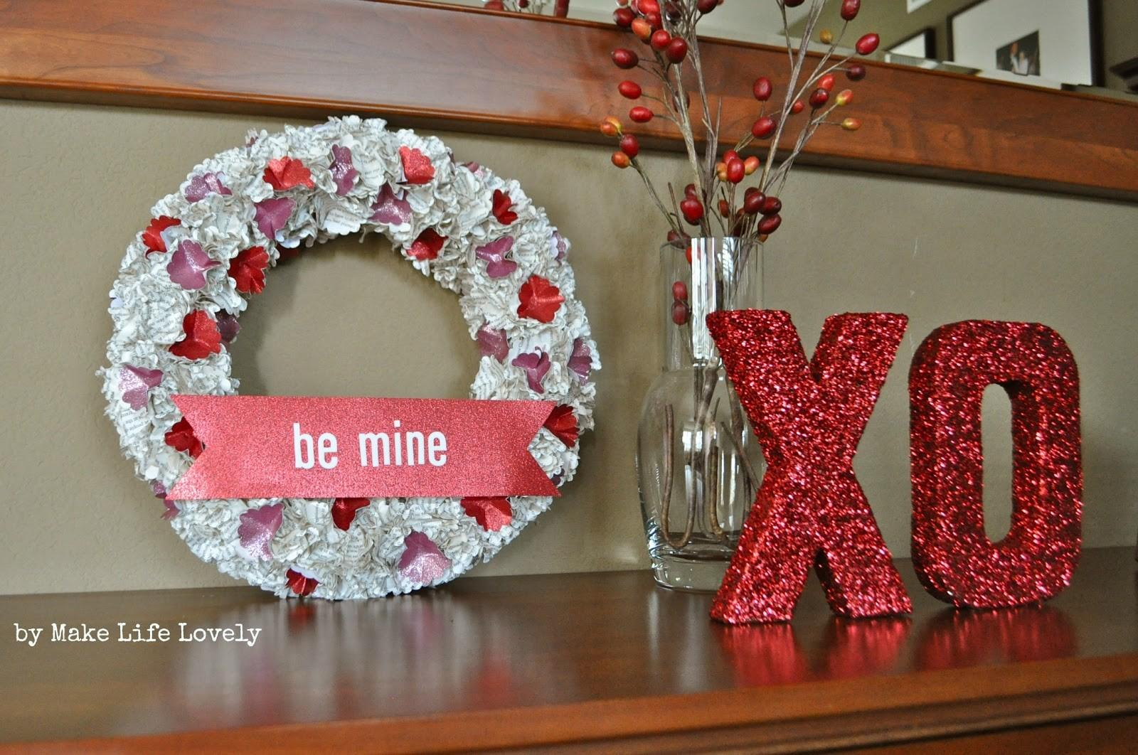 Easy Diy Valentine Day Paper Wreath Make Life Lovely
