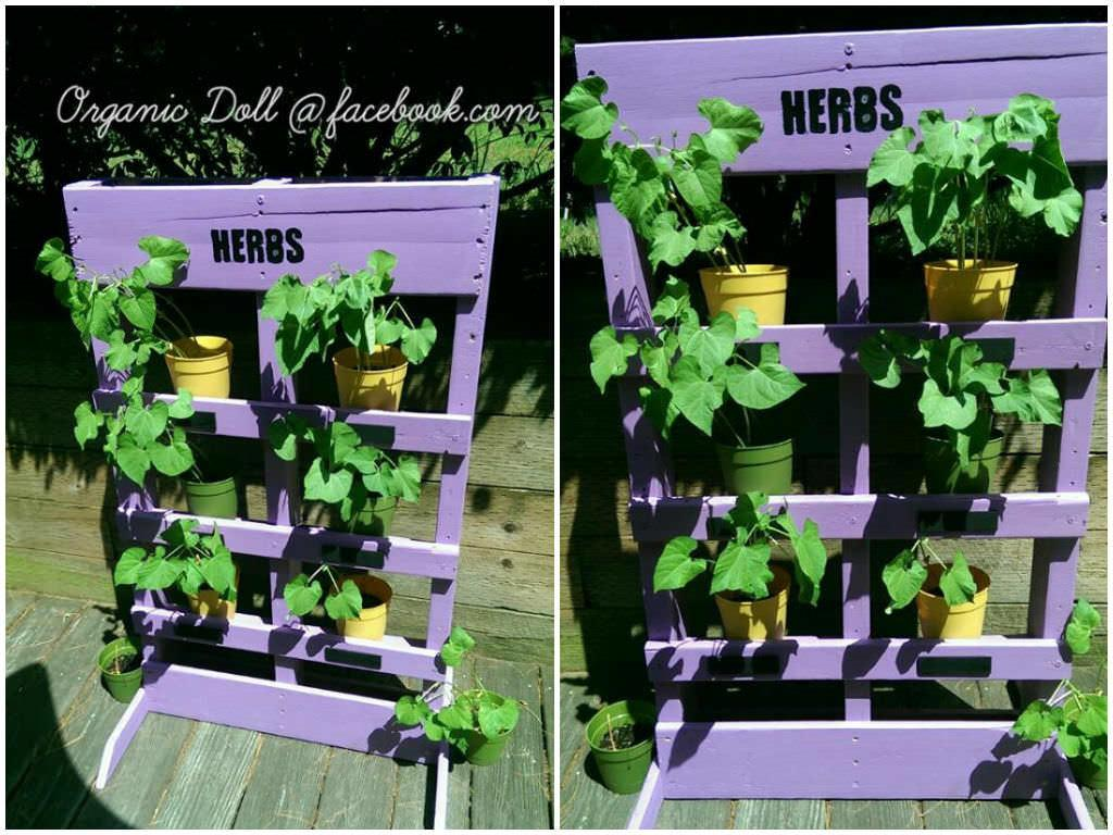 Easy Diy Vertical Pallet Garden 1001 Pallets