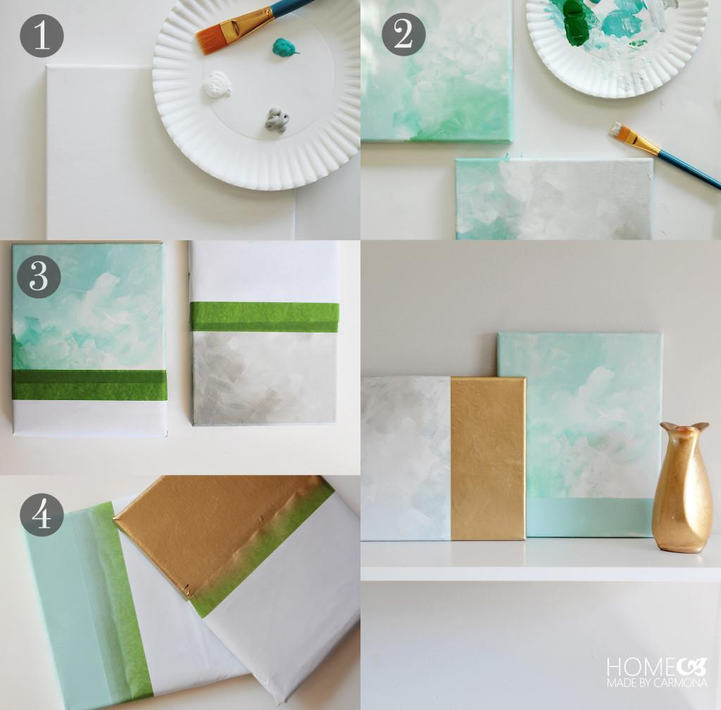 Easy Diy Wall Art Hacks Using Tape Home Made Carmona