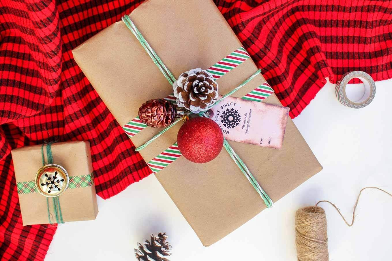 Easy Dollar Store Christmas Gift Wrap Ideas