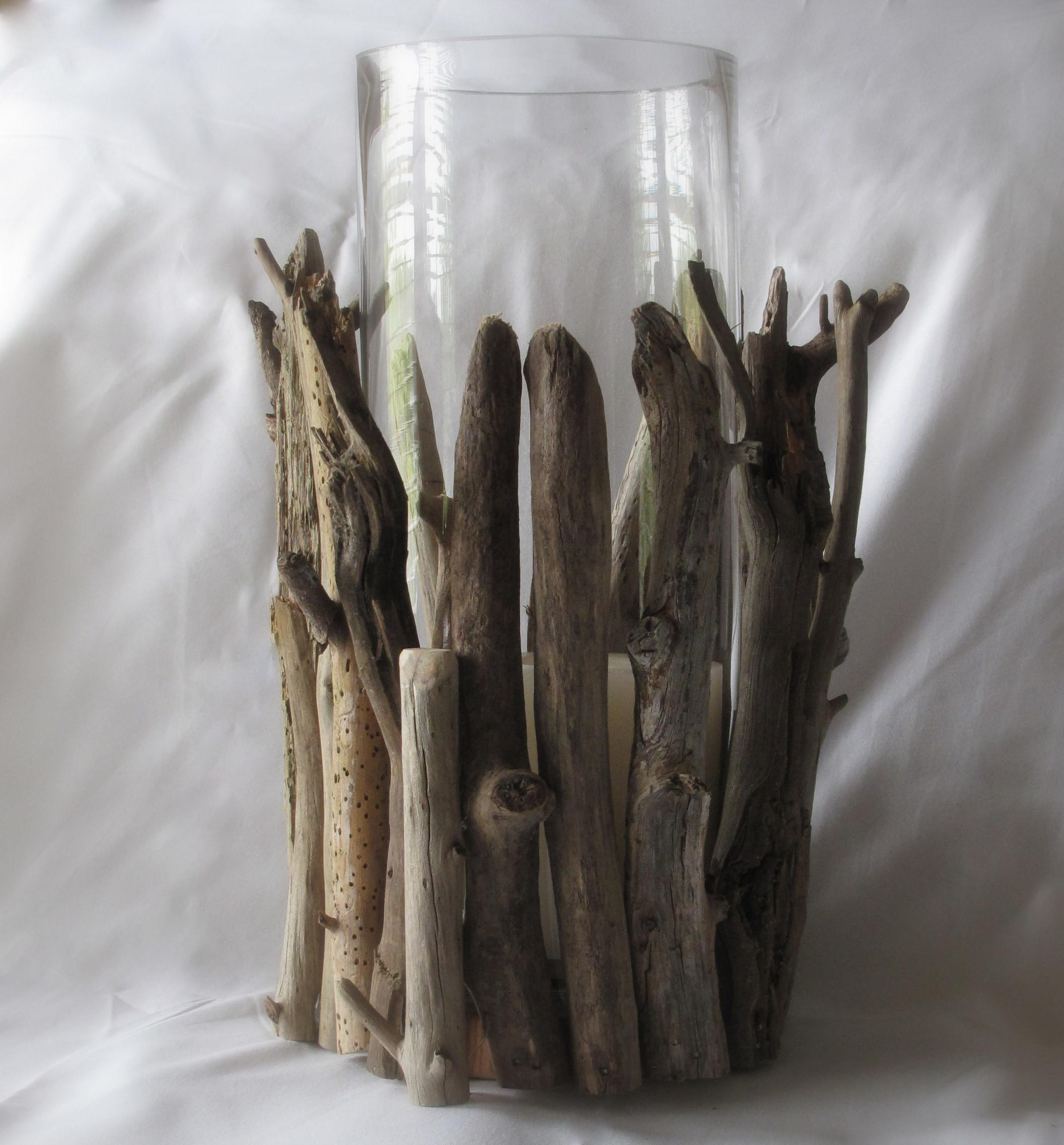 Easy Driftwood Hurricane Lamp Diy Scavenger Chic