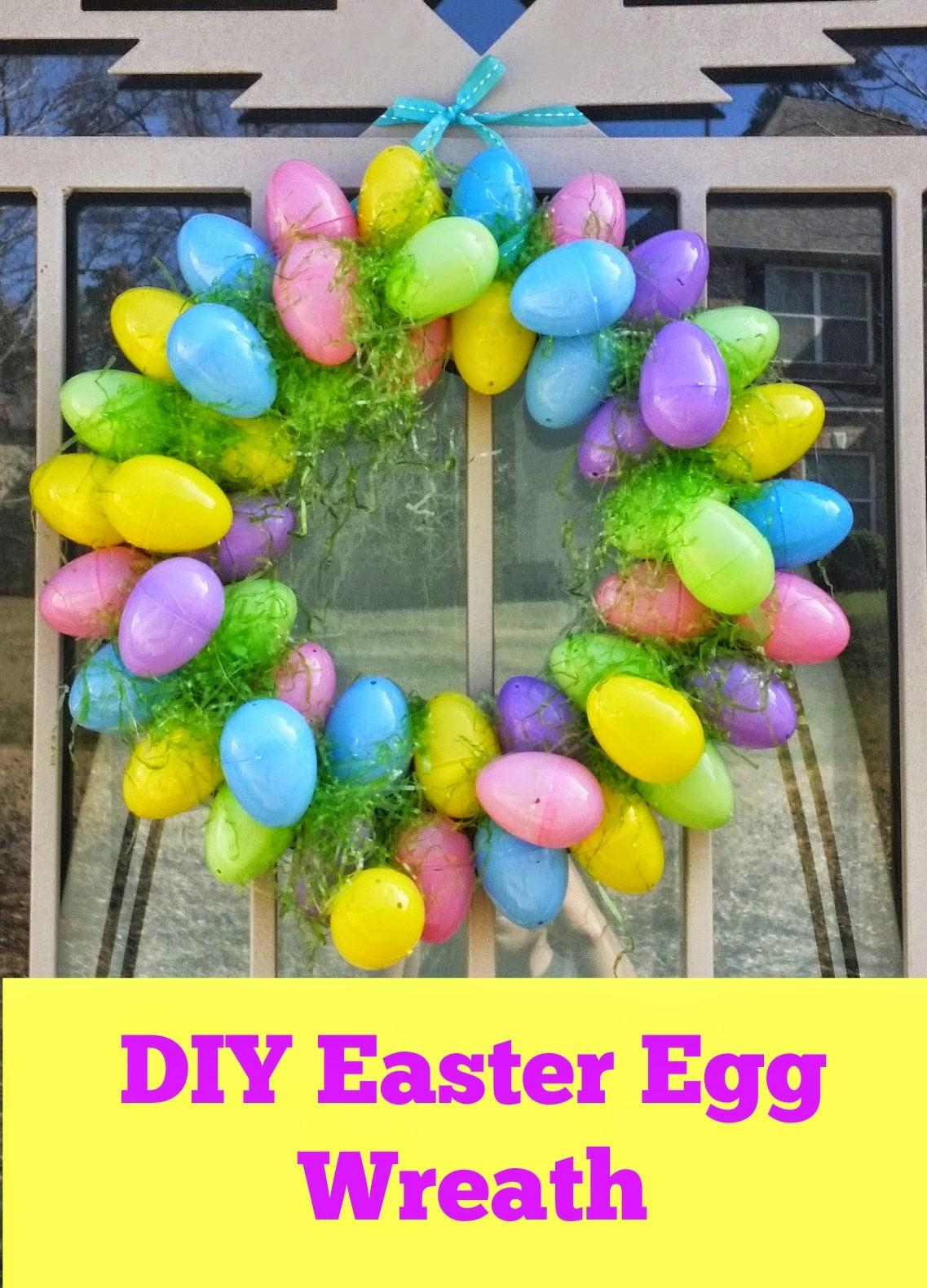 Easy Easter Egg Wreath Diy
