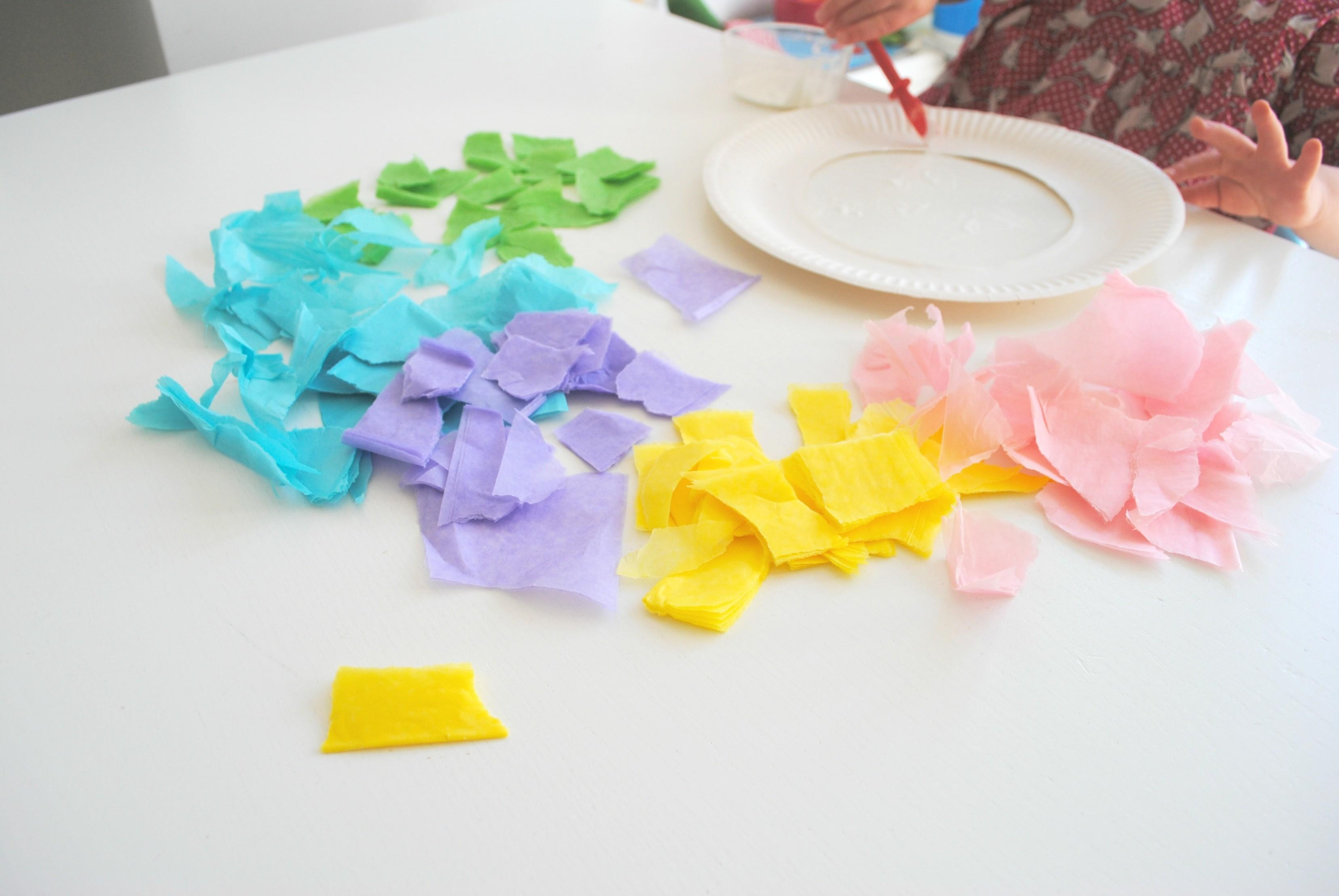 Easy Easter Tissue Paper Wreaths Spirited Puddle Jumper