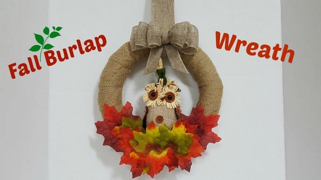 Easy Fall Burlap Wreath Bow Dollar Tree Decor