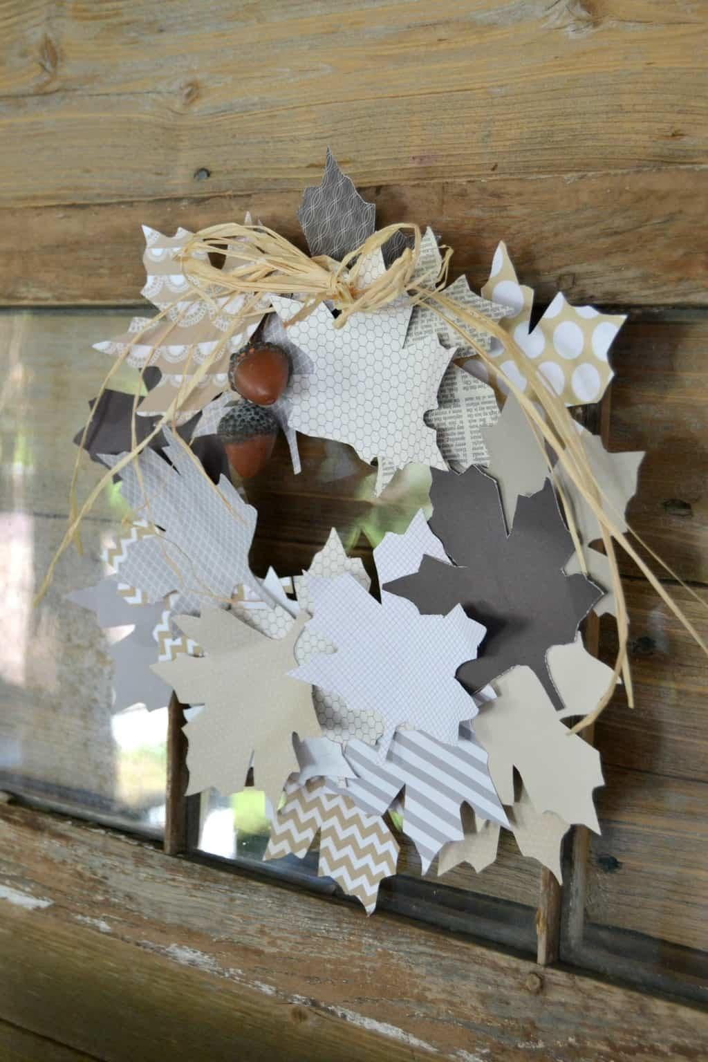 Easy Fall Decor Diy Paper Leaf Wreath Creative Days