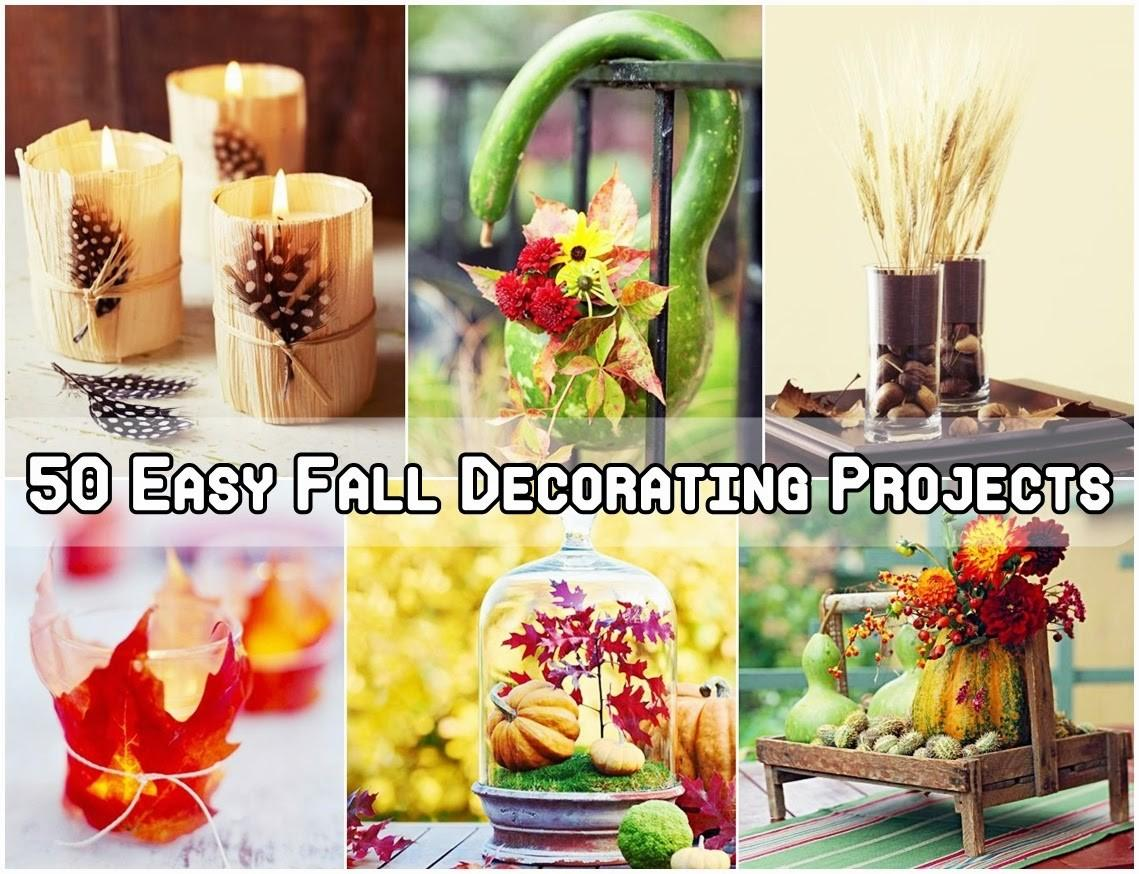 Easy Fall Decorating Projects Diy Craft