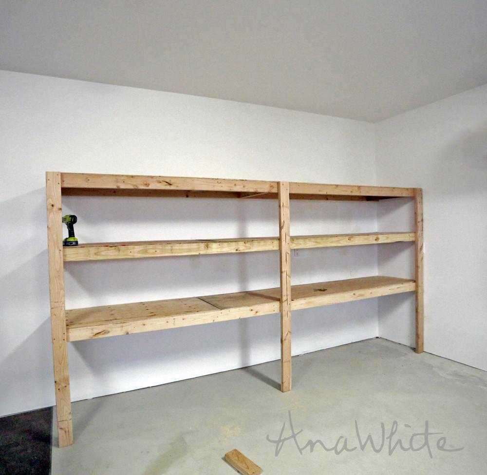 Easy Fast Diy Garage Basement Shelving Tote Storage