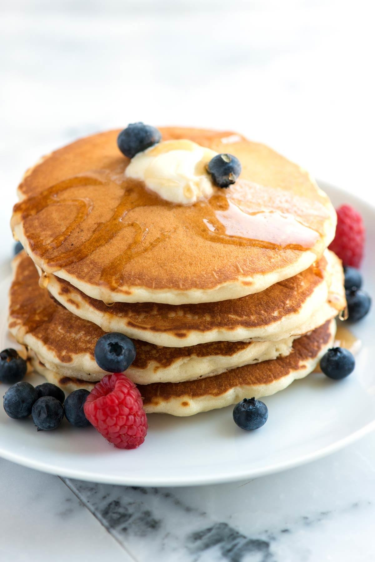 Easy Fluffy Pancakes Recipe Scratch