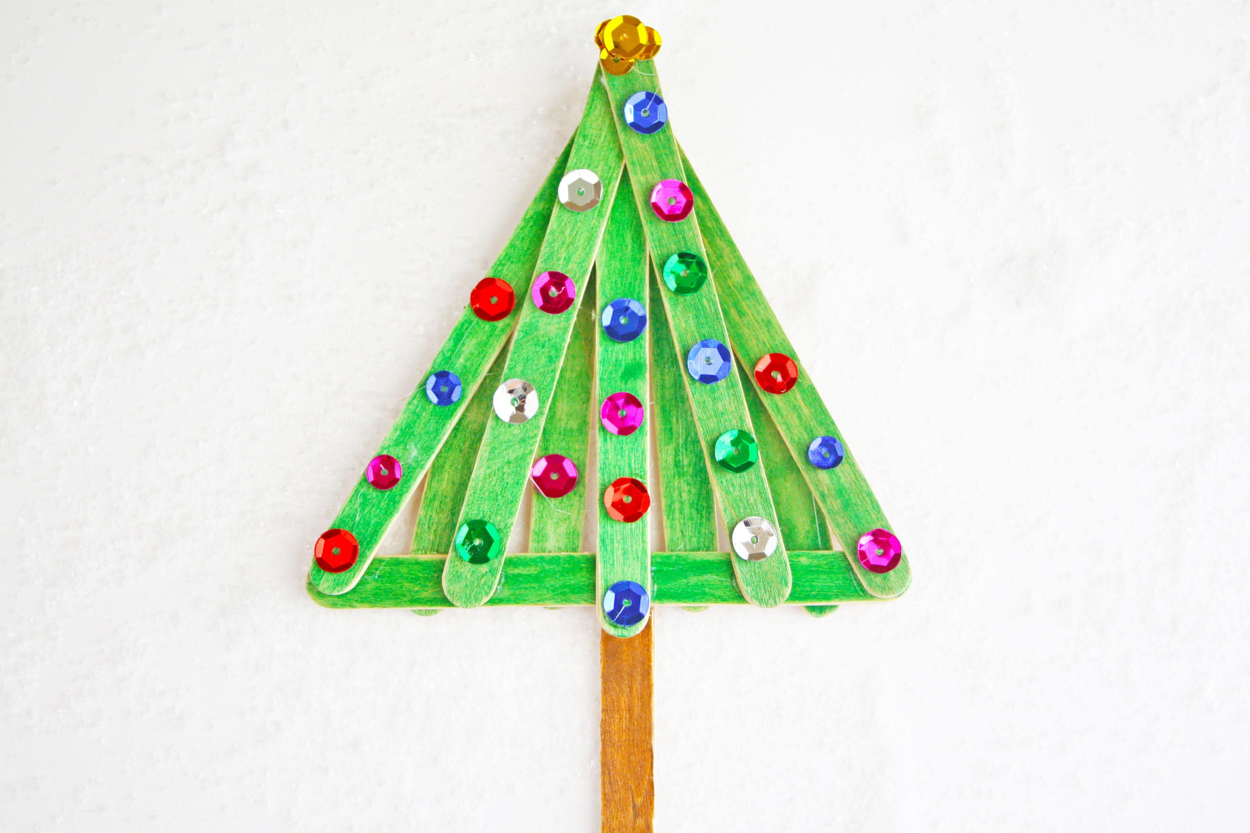 Easy Fun Popsicle Stick Christmas Tree Craft Love Day