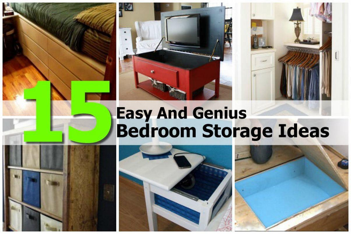 Easy Genius Bedroom Storage Ideas