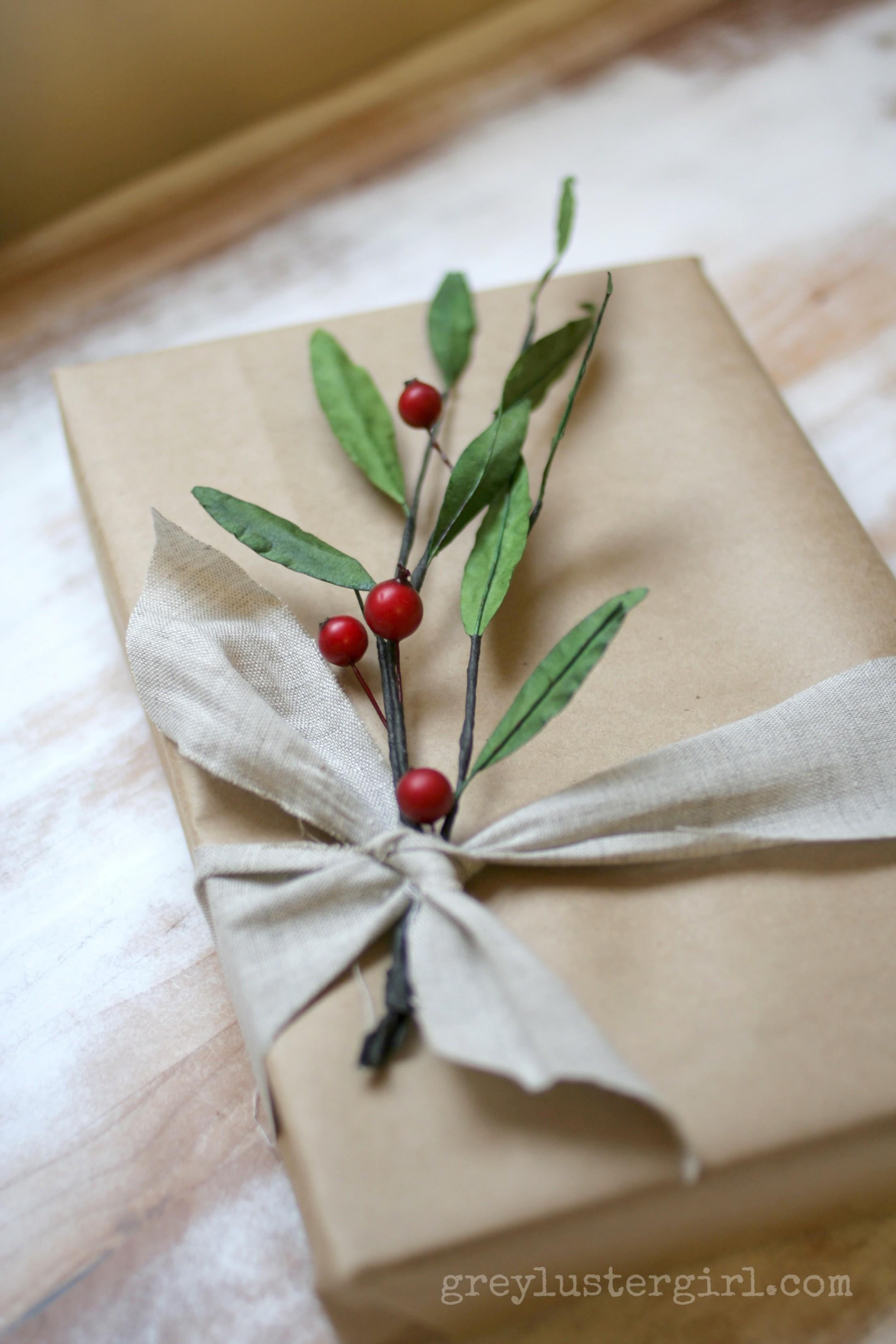 Easy Gift Wrapping Ideas Kraft Paper