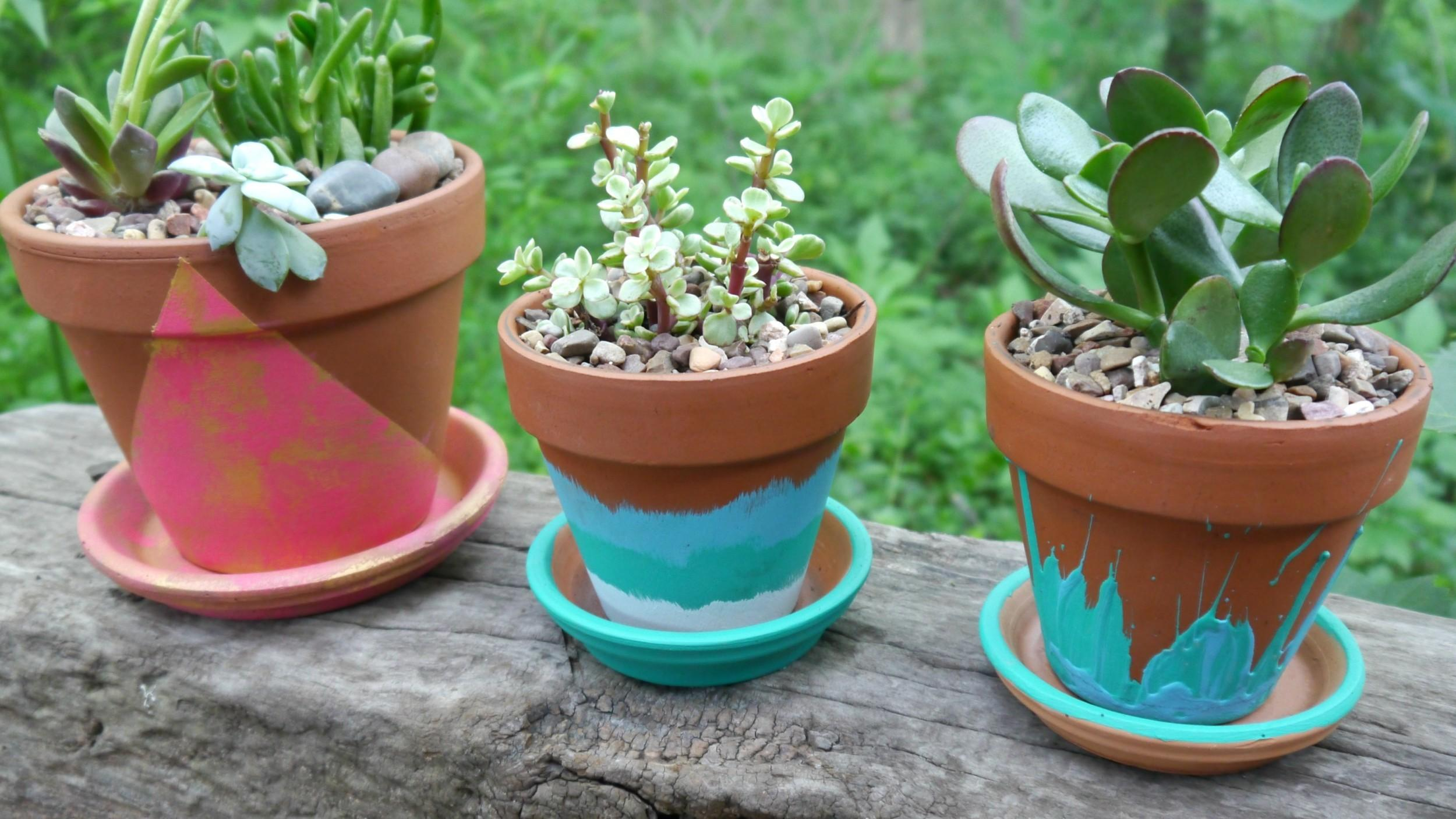 Easy Hand Painted Terracotta Pots