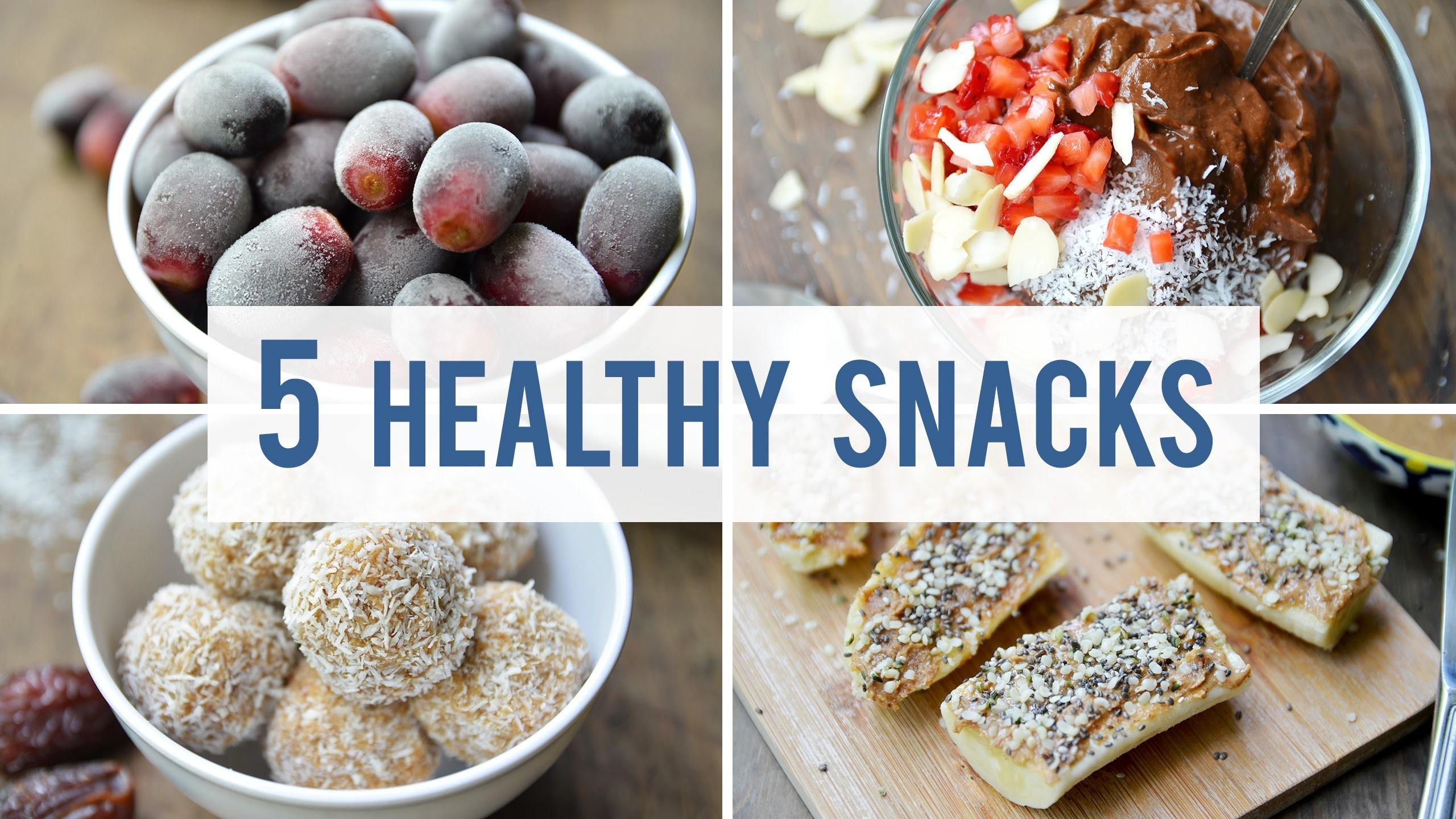 Easy Healthy Snacks Satisfy Your Sweet Tooth
