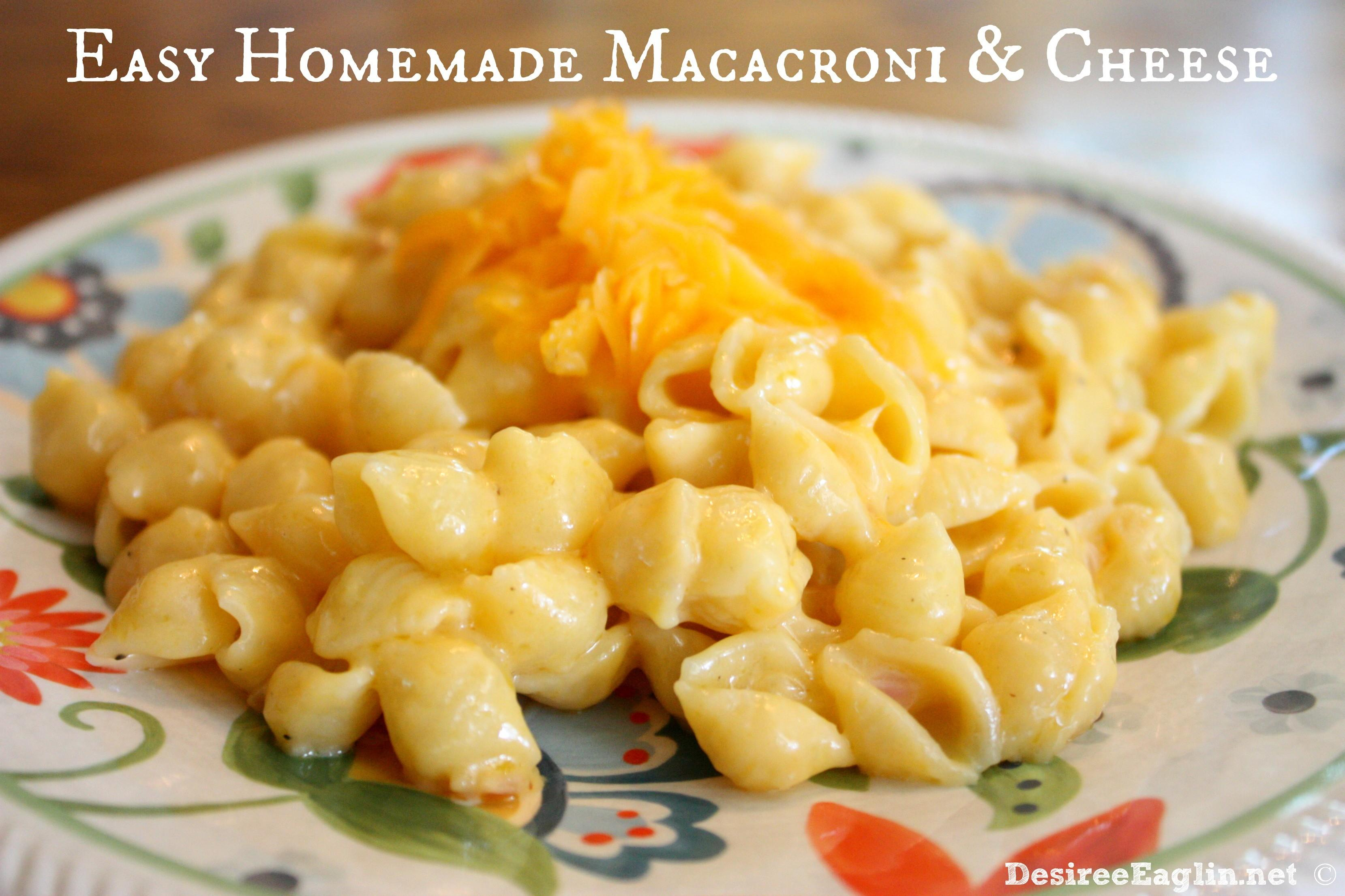 Easy Homemade Macaroni Cheese Recipe