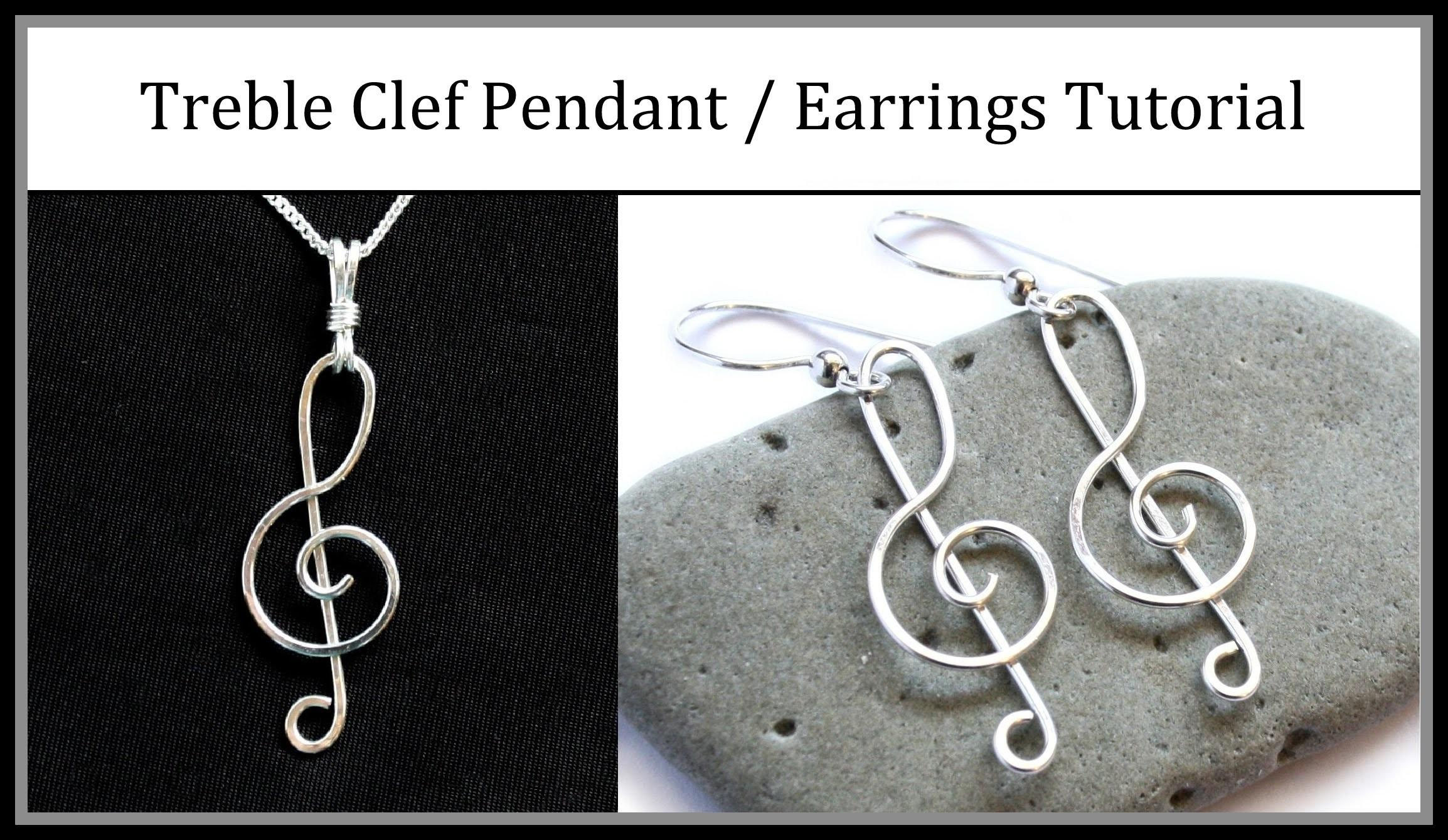 Easy Jewelry Tutorial Wire Wrapped Treble Clef Pendant