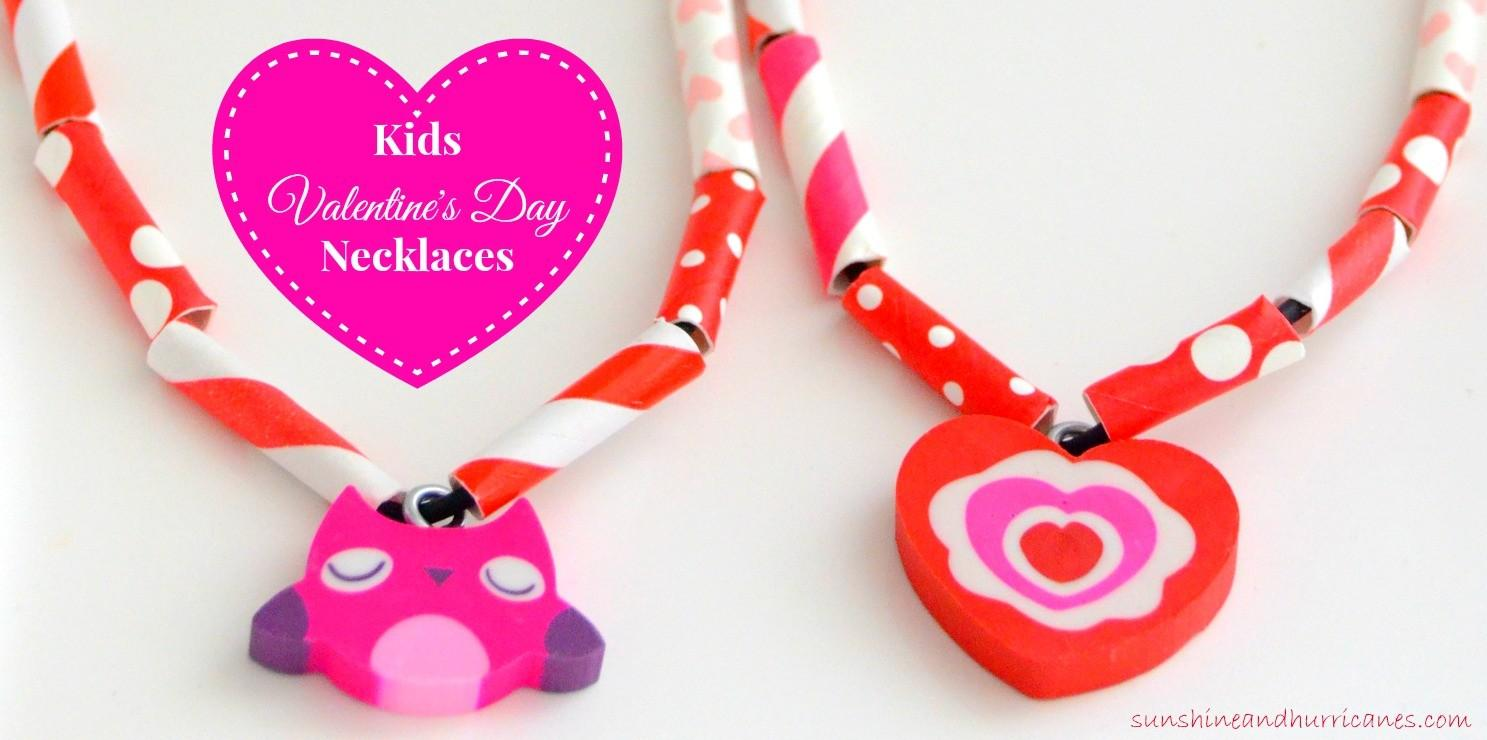 Easy Kids Valentine Day Necklaces