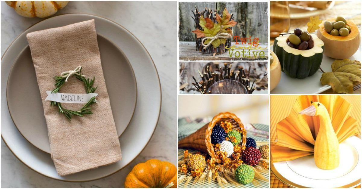 Easy Make Diy Thanksgiving Decorating Ideas