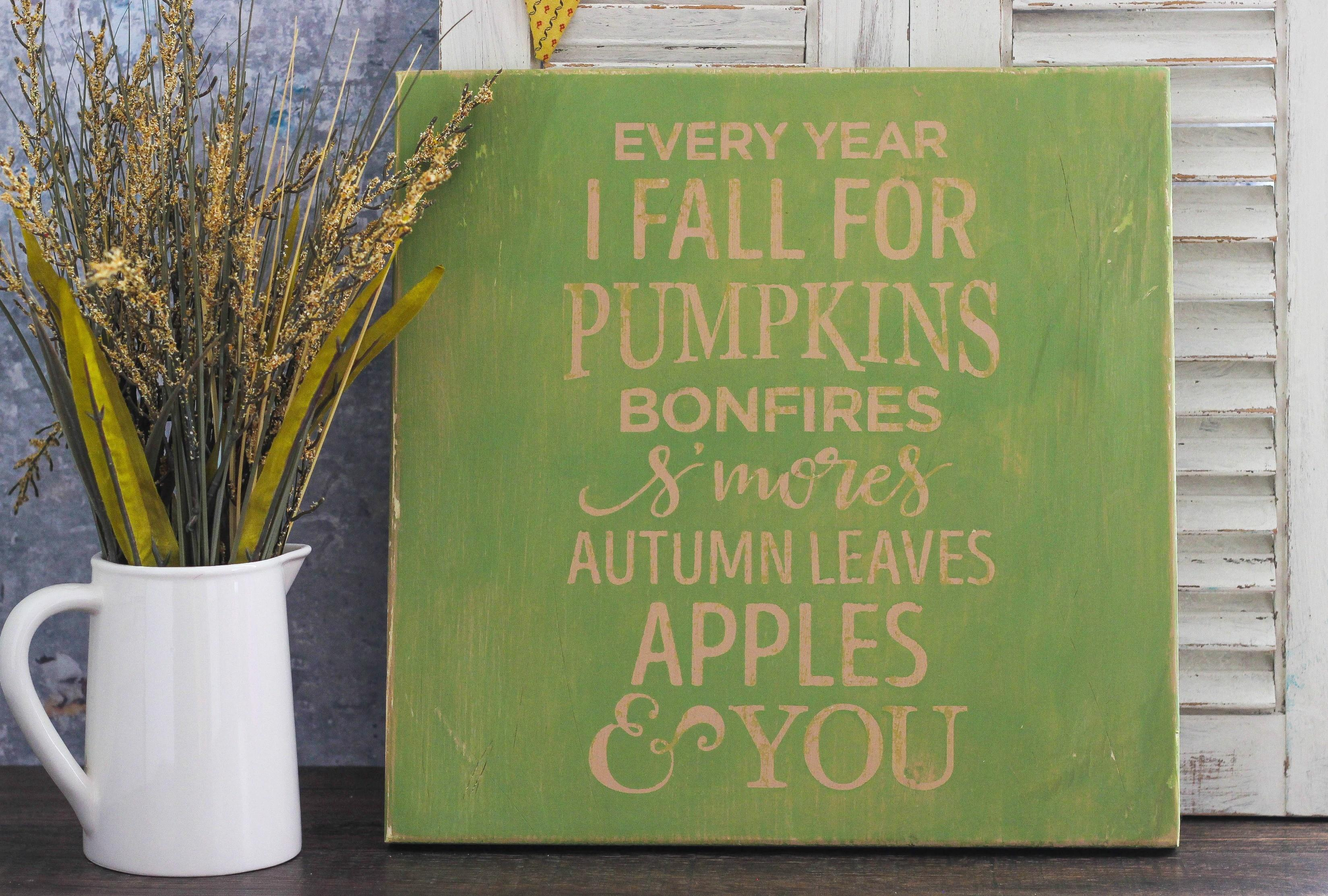 Easy Make Fall Wood Sign