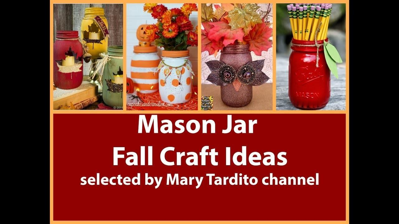Easy Mason Jar Fall Decorations Diy Decorating