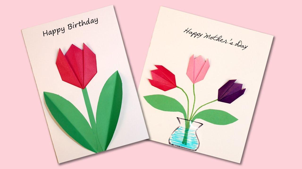 Easy Origami Flower Cards