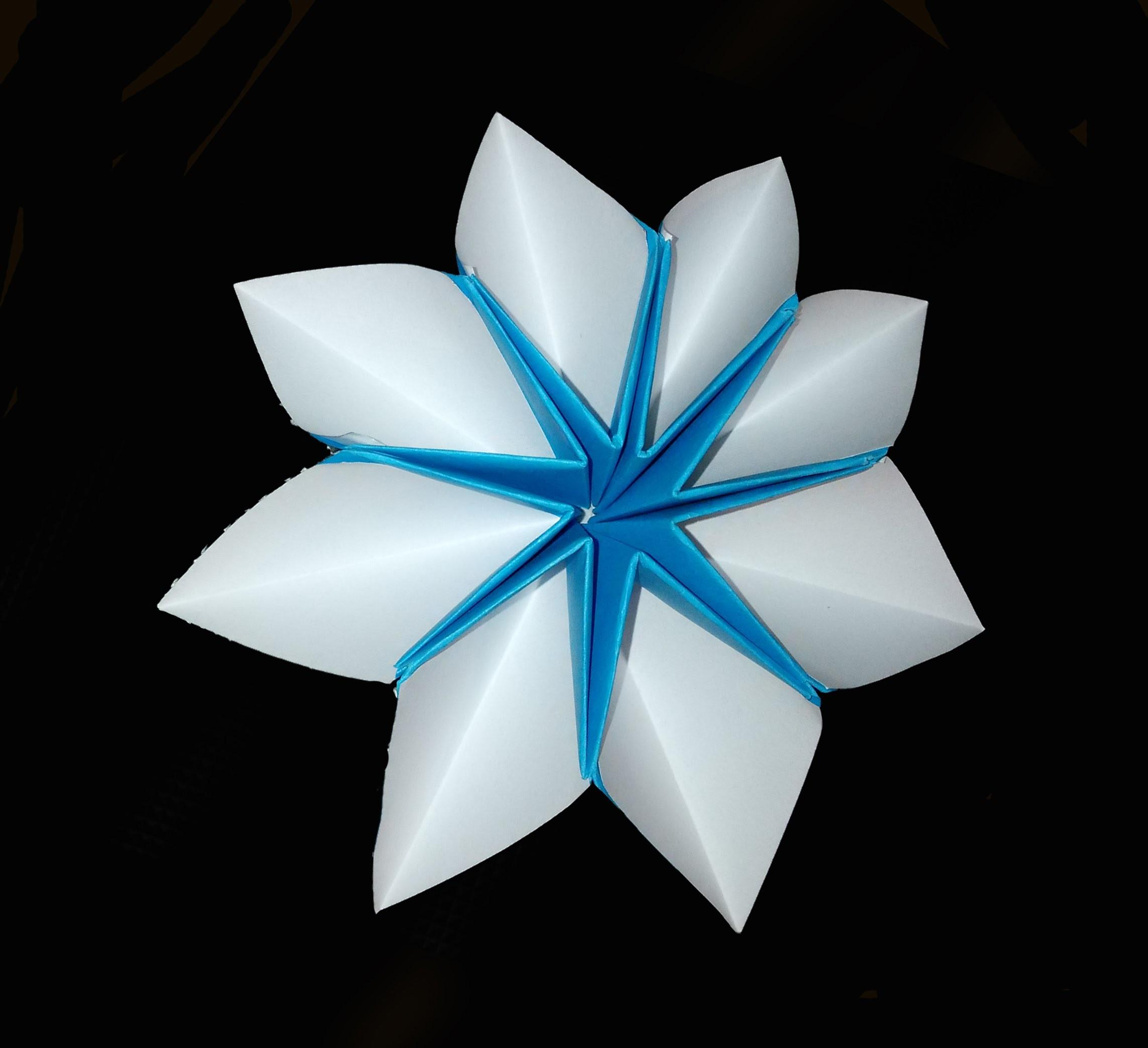 Easy Origami Star Flower Decor Fashion Jewelry