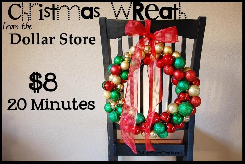 Easy Ornament Christmas Wreath Tutorial Only