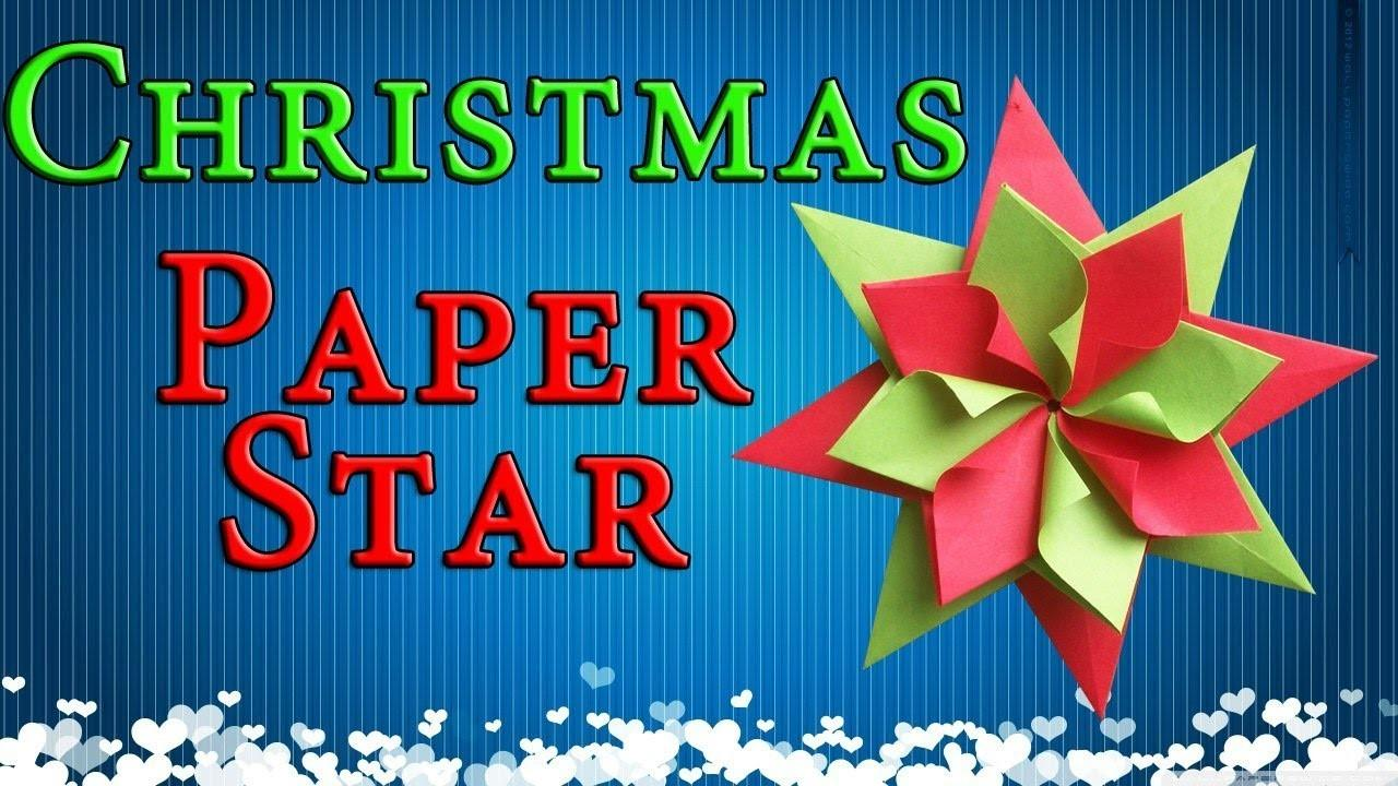 Easy Paper Christmas Decorations Origami Star New Year